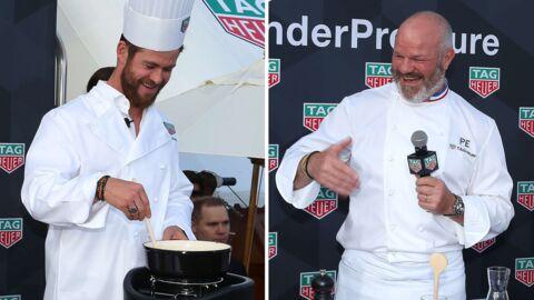 PHOTOS L'improbable rencontre de Philippe Etchebest et Chris Hemsworth cuisinant une fondue