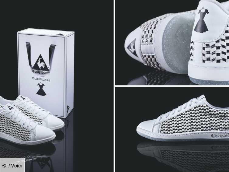 Collab Le Coq Sportif – Guerlain : les sneakers Arthur Ashe