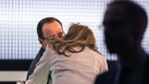 PHOTO Le baiser de Valérie Trierweiler à François Hollande avant le grand oral