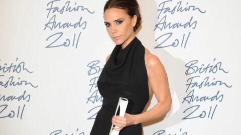 Victoria Beckham reçoit l'Oscar de la mode à Londres