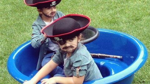 PHOTO Nelson et Eddy, les jumeaux de Céline Dion, préparent Halloween