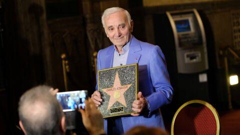 PHOTOS Charles Aznavour reçoit une étoile d'honneur à Hollywood et en profite pour tacler la Turquie