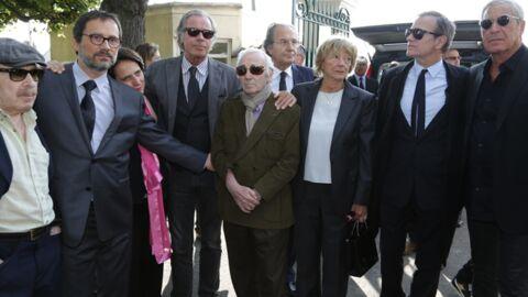 DIAPO Obsèques de Pierre Huth: Huster, Aznavour, Pivot, Drucker réunis