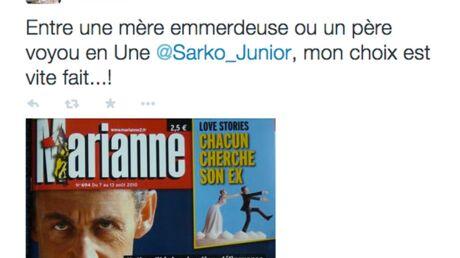Léonard Trierweiler tacle méchamment Louis Sarkozy et son père