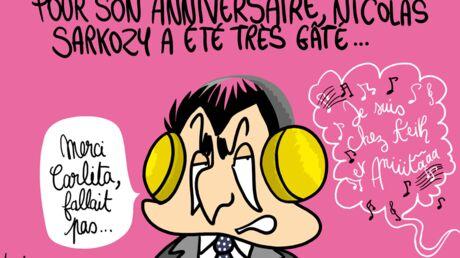 Louison a croqué… Carla Bruni dévoile son single pour l'anniversaire de Nicolas Sarkozy