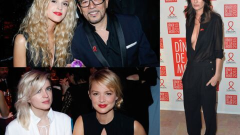 PHOTOS Virginie Efira glamour, Pascal Obispo en couple au dîner du Sidaction