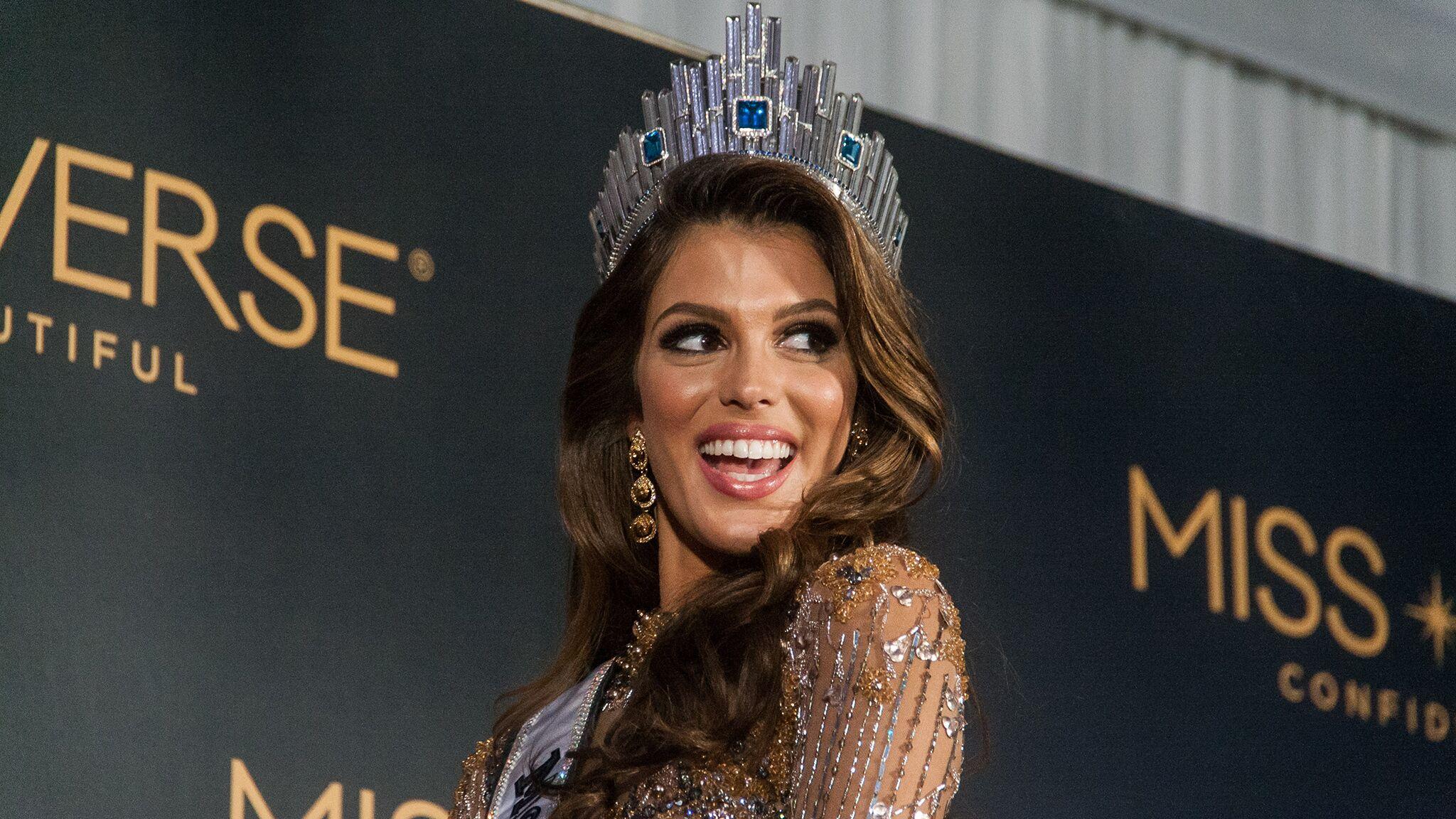size 40 finest selection details for Iris Mittenaere élue Miss Univers : Sylvie Tellier dévoile ...
