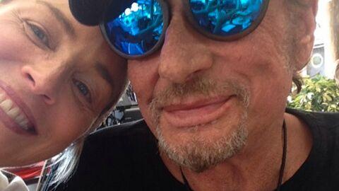 PHOTO Johnny Hallyday: son selfie à la cool avec Sharon Stone
