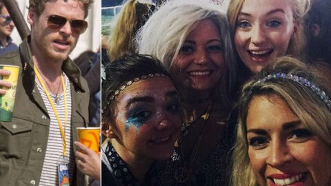 PHOTOS Game of Thrones : Arya, Sansa et Robb Stark font la fête à Glastonbury