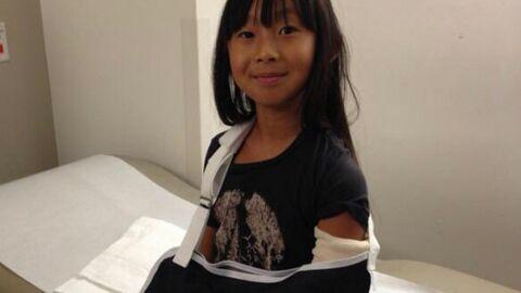 La fille de Johnny Hallyday se blesse le bras à l'école