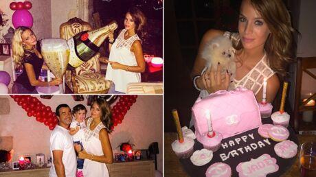 PHOTOS Jade Lagardère fête ses 24 ans avec Arnaud, ses filles et beaucoup trop de ballons
