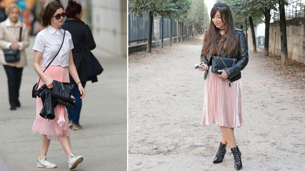 Le shopping de Marieluvpink: adoptez la jupe plissée comme Anne Hathaway