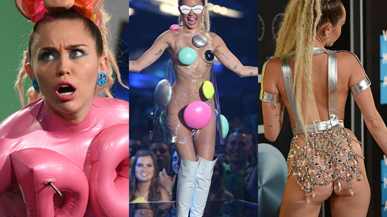 PHOTOS Les 12 looks complètement fous de Miley Cyrus aux MTV VIDEO Music Awards 2015