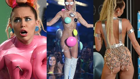 PHOTOS Les 12 looks complètement fous de Miley Cyrus aux MTV VIDEO Music Awards 2015