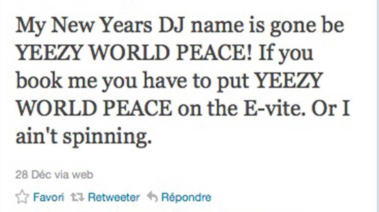 Kanye West anime le nouvel an pour 1 million de dollars (seulement)