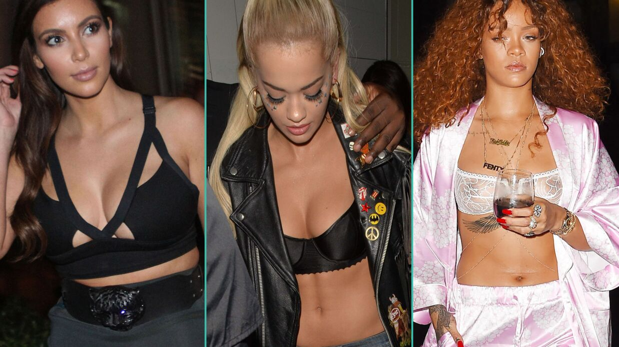 PHOTOS Rihanna, Kim Kardashian… Ces stars qui sortent en soutien-gorge