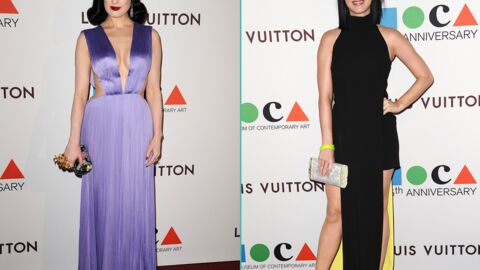 PHOTOS Dita Von Teese sexy, Katy Perry graphique au MOCA Gala