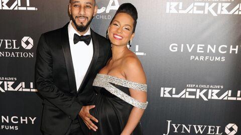 DIAPO Très enceinte, Alicia Keys est radieuse et amoureuse