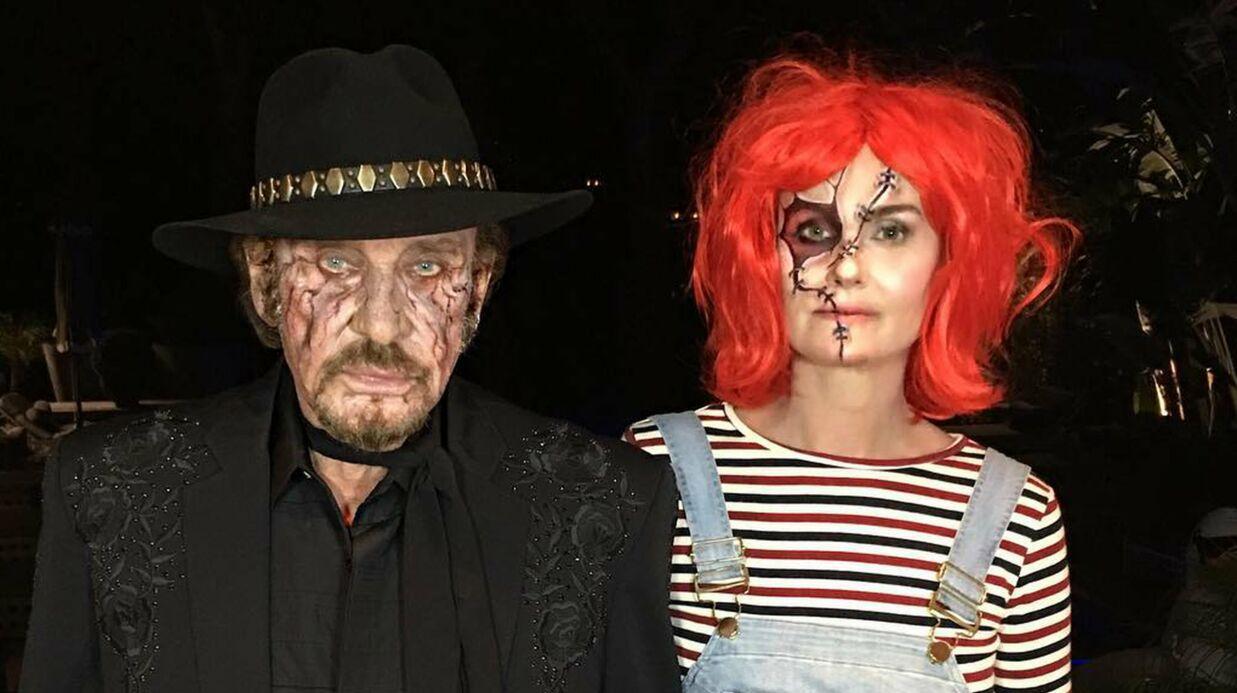 VIDEO Johnny et Laeticia Hallyday s'amusent de leur maquillage très flippant
