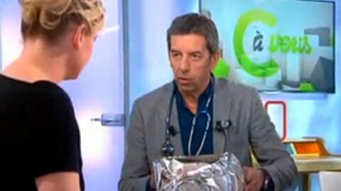 VIDEO Découvrez le cadeau très drôle qu'a fait Michel Cymès à l'équipe de C à vous