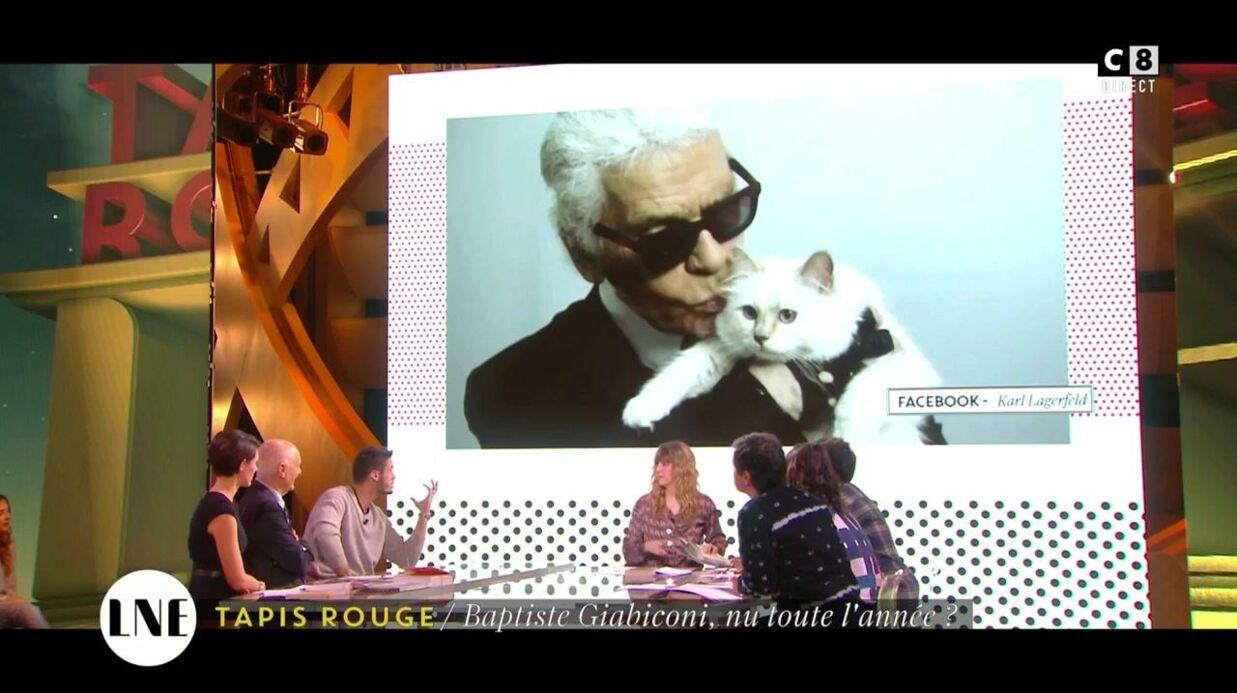 VIDEO Baptiste Giabiconi avoue que Karl Lagerfeld lui a volé son chat, Choupette