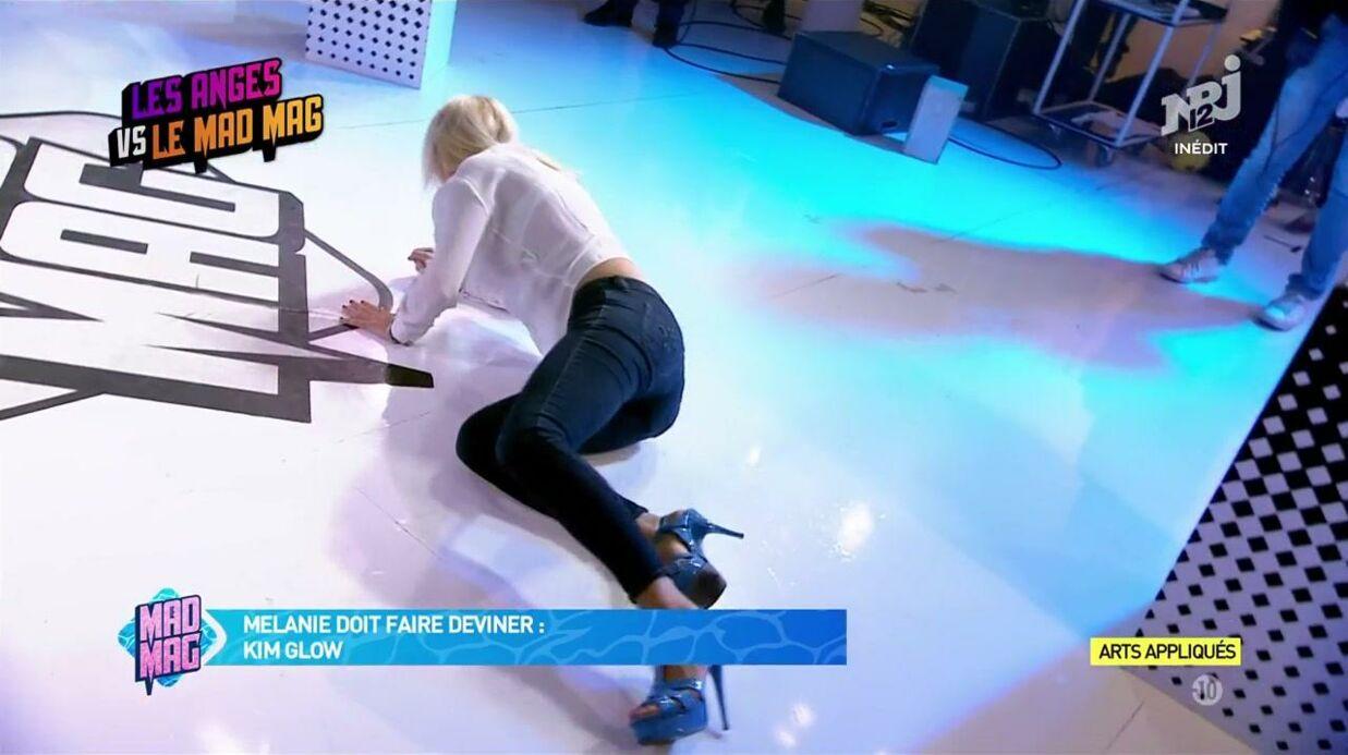 VIDEO Mélanie (Les Anges 9) fait une grosse chute sur le plateau du Mad Mag