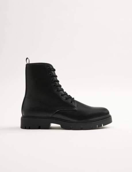 Bottes à lacets avec semelle trak pour hommes, Zara, 39,95€