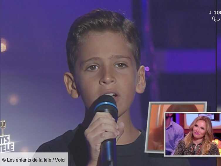 VIDEO Les enfants de la télé : Hélène Ségara émue aux larmes par une ancienne séquence avec son fils Raphaël