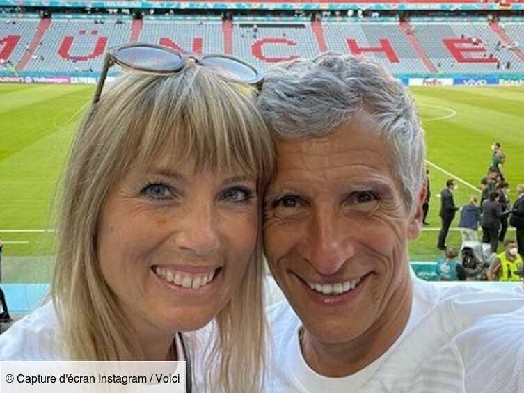 PHOTO France – Allemagne : le selfie de Nagui et Mélanie Page depuis les tribunes divise les internautes