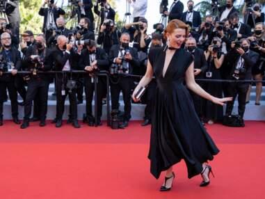 PHOTOS : Festival de Cannes 2021 : Elodie Frégé et son décolleté plongeant, Frédérique Bel sexy dans sa robe sirène et une drôle de coiffure