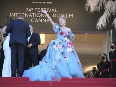 PHOTOS Festival de Cannes 2021 : Sharon Stone pétillante en robe à fleurs, Louis Garrel sobre et classe, Mathieu Amalric tout sourire