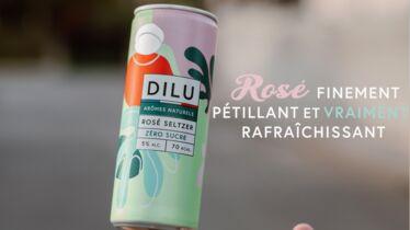 Très frais: la pétillante canette de vin Dilu Rosé