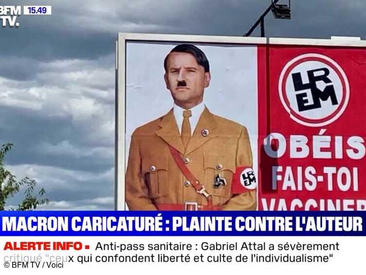Emmanuel Macron représenté en Adolf Hitler sur des panneaux publicitaires : il porte plainte