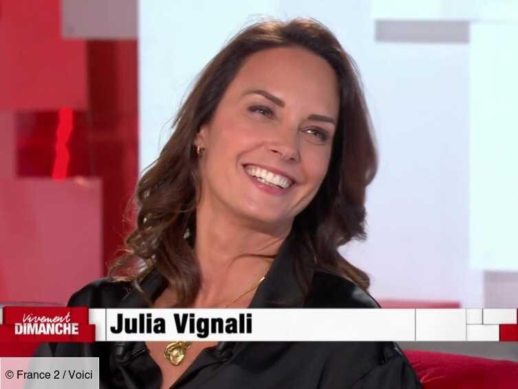 VIDEO Julia Vignali : l'animatrice raconte sa première rencontre avec son compagnon Kad Merad