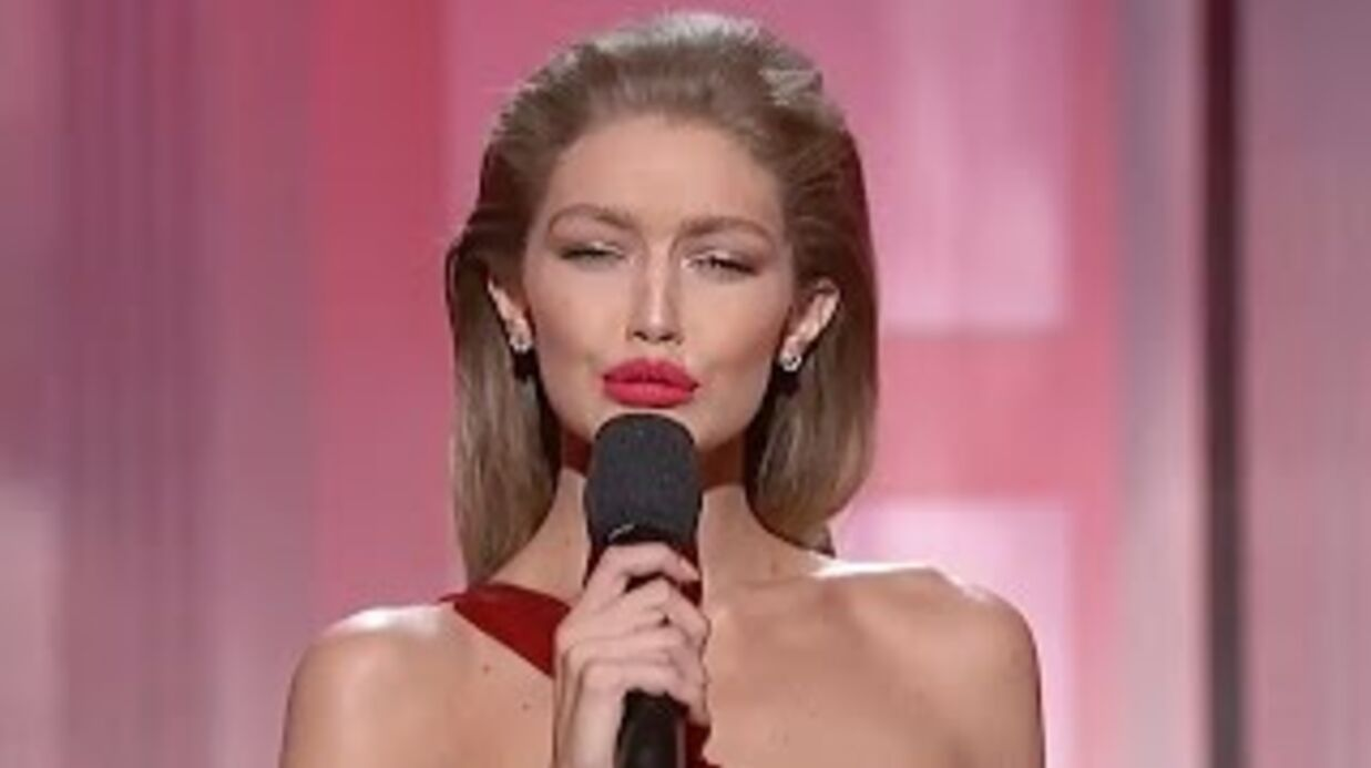 VIDEO Gigi Hadid: son imitation de Melania Trump aux AMA 2016 divise la toile