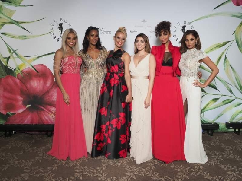 """Alicia Aylies et les Miss France à la soirée de Gala de l'association """"Les Bonnes Fées"""", Paris"""
