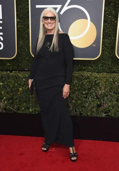 Jane Campion lors de la 75e cérémonie des Golden Globes, le 7 janvier 2018