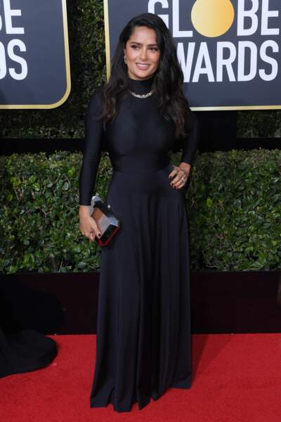Salma Hayek lors de la 75e cérémonie des Golden Globes, le 7 janvier 2018
