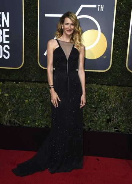 Laura Dern lors de la 75e cérémonie des Golden Globes, le 7 janvier 2018