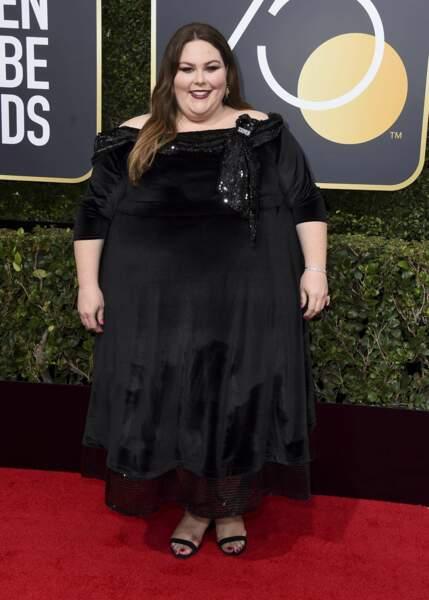 Chrissy Metz lors de la 75e cérémonie des Golden Globes, le 7 janvier 2018