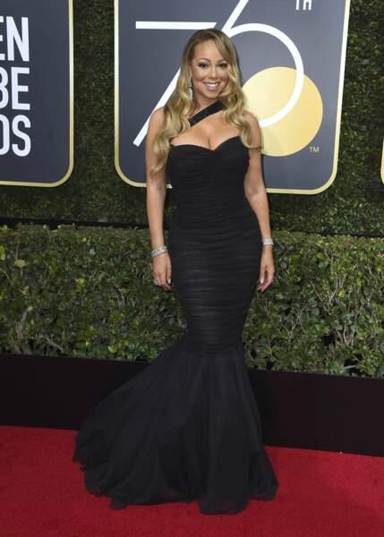 Mariah Carey lors de la 75e cérémonie des Golden Globes, le 7 janvier 2018