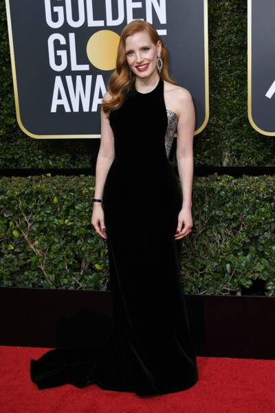 Jessica Chastain  lors de la 75e cérémonie des Golden Globes, le 7 janvier 2018