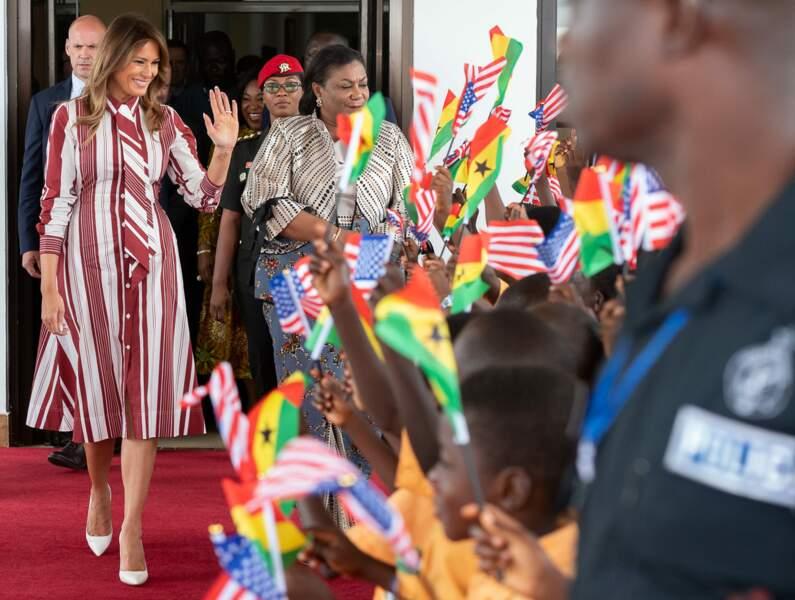 Melania Trump a entamé sa première tournée en Afrique, et en solo.