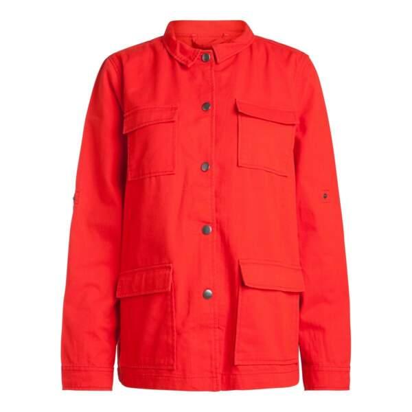 Veste en jean rouge, Pieces chez La Redoute, 44,99 euros