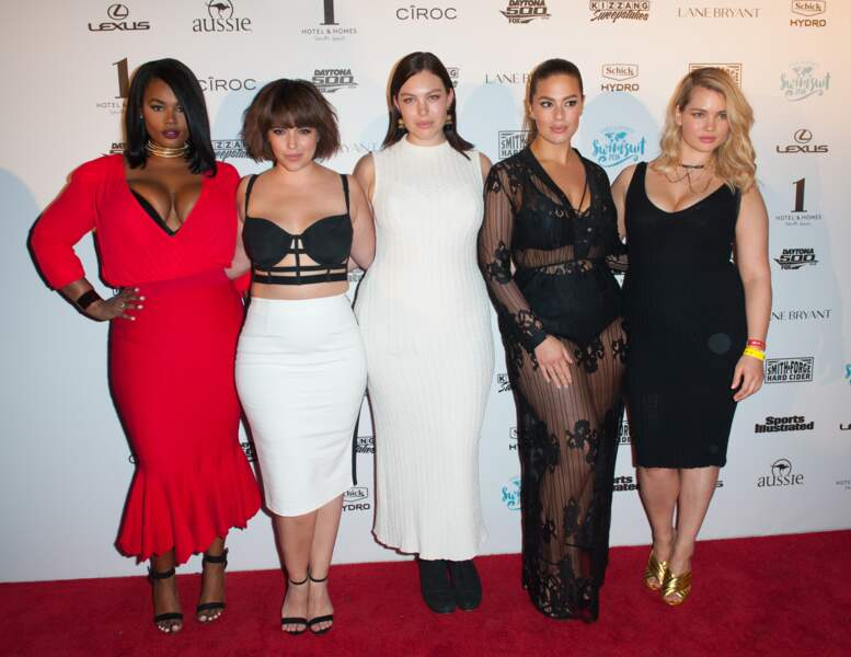 Precious Lee, Denise Bidot, Georgia Pratt, Ashley Graham et Tara Lynn
