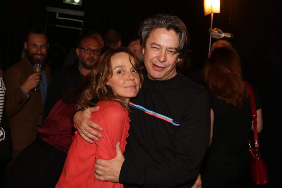 Philippine Leroy-Beaulieu et Thibault de Montalembert à la fête de fin de tournage de la saison 3 de Dix pour cent