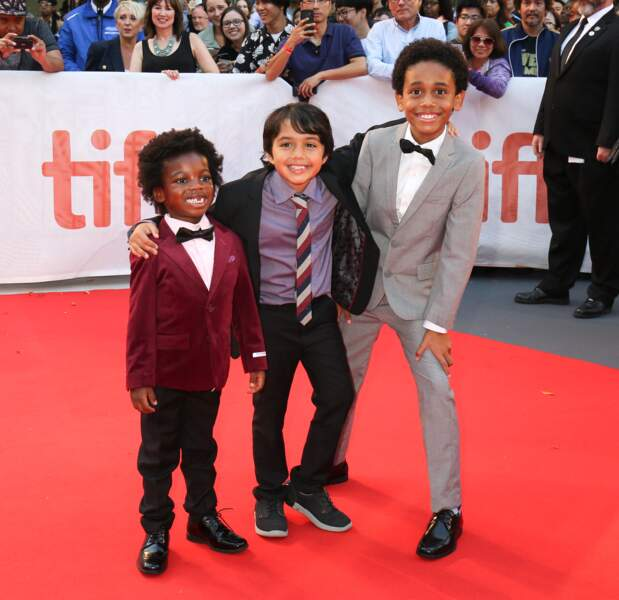 Red carpet de Kings à Toronto - Aiden Akpan, Callan Farris et Reece Cody
