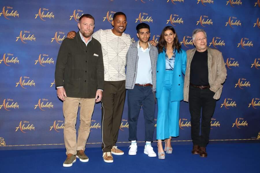 Toute l'équipe d'Aladdin lors du photocall organisé à Londres le vendredi 10 mai