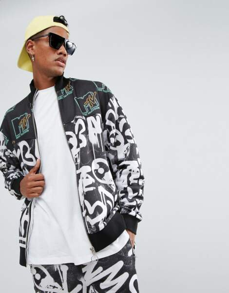 ASOS x MTV : veste de survêtement en jersey, 43,99€