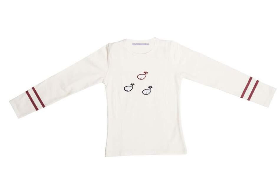 Tee-Shirt Blanc d'hiver. 2-10 ans, 39€, Le phare de la baleine.